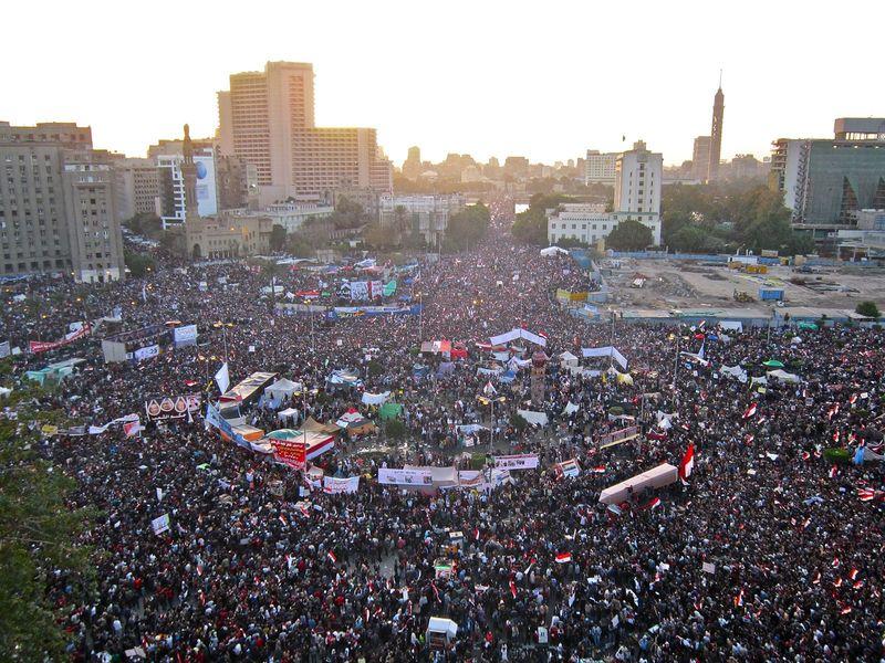 Tahrir Square on 25 January 2012