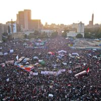 Tahrir Square on 25 January 2012